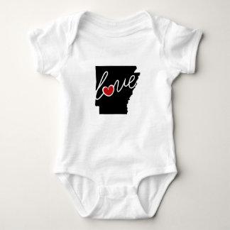 ¡Amor de Arkansas!  Regalos para los amantes de AK Mameluco De Bebé