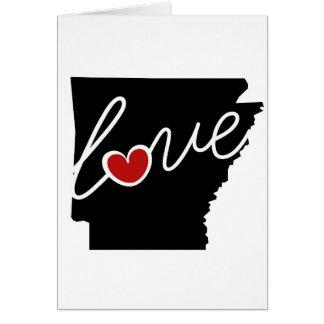 ¡Amor de Arkansas!  Regalos para los amantes de AK Tarjeta De Felicitación