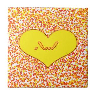 Amor de ASL-I usted con el corazón de Shirley Azulejo Cuadrado Pequeño
