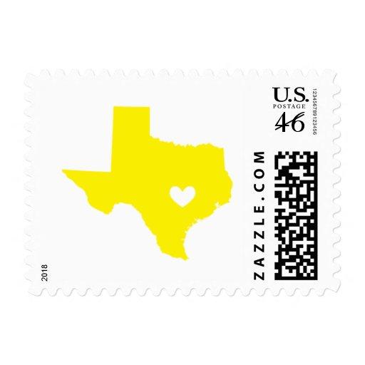 Amor de Austin, TX en amarillo Sellos