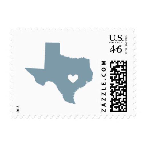 Amor de Austin, TX en azul gris Sello