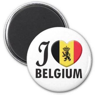 Amor de Bélgica v2 Imán Redondo 5 Cm
