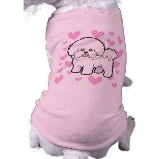 Amor de Bichon Frise Camisetas De Mascota