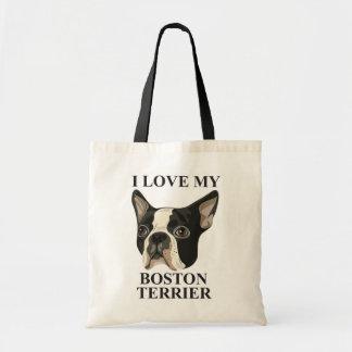 Amor de Boston Terrier Bolsa Tela Barata