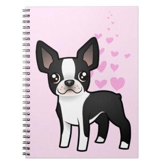 Amor de Boston Terrier Cuaderno