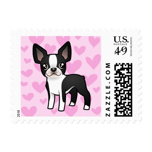 Amor de Boston Terrier Franqueo