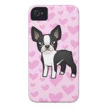 Amor de Boston Terrier iPhone 4 Case-Mate Cárcasa