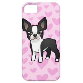 Amor de Boston Terrier iPhone 5 Carcasa
