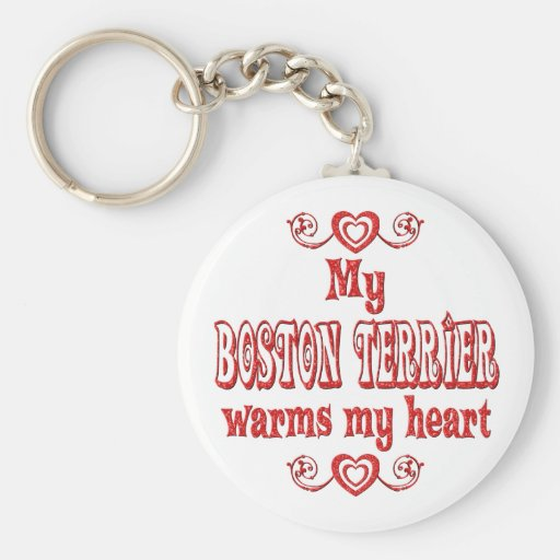 Amor de BOSTON TERRIER Llavero Personalizado