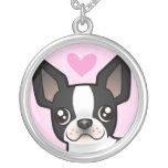 Amor de Boston Terrier Pendiente Personalizado