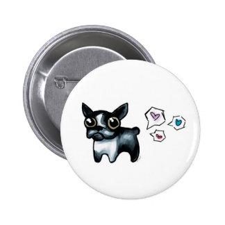 Amor de Boston Terrier Pin Redondo 5 Cm