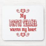 Amor de BOSTON TERRIER Tapetes De Ratones
