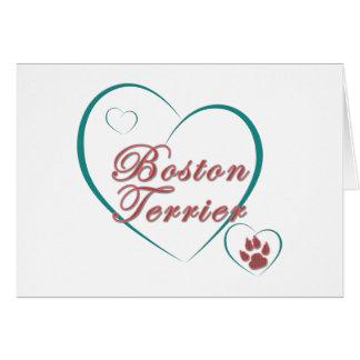 Amor de Boston Terrier Felicitacion