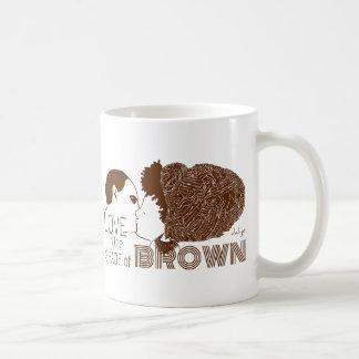 AMOR de BROWN en BROWN Tazas De Café