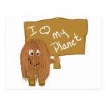 Amor de Brown mi planeta Postal