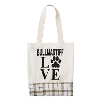 Amor de Bullmastiff Bolsa Tote Zazzle HEART