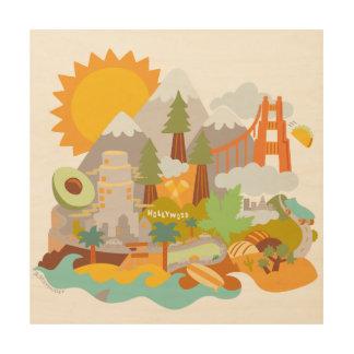 Amor de Cali - lona de madera Impresiones En Madera