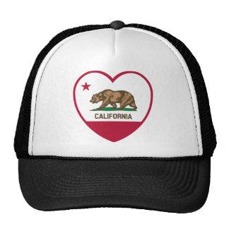 Amor de California - corazón de la bandera de Cali Gorras