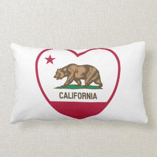 Amor de California - corazón de la bandera de Cojín