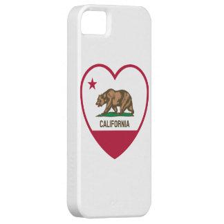 Amor de California - corazón de la bandera de Funda Para iPhone 5 Barely There