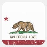 Amor de California Colcomanias Cuadradas Personalizadas