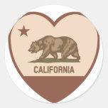 Amor de California - retro Etiquetas Redondas