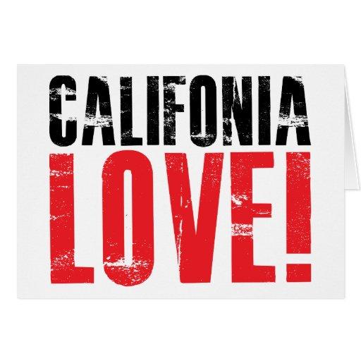 Amor de California Tarjeta De Felicitación
