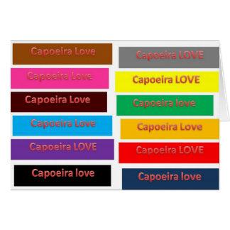 amor de Capoeira de la tarjeta