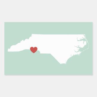 Amor de Carolina del Norte - pegatina adaptable