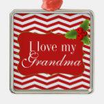 Amor de Chevron I de las Felices Navidad mi abuela Ornato