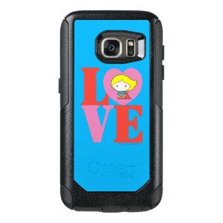 AMOR de Chibi Supergirl Funda Otterbox Para Samsung Galaxy S7
