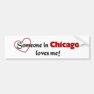 Amor de Chicago Pegatina Para Auto