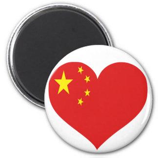 Amor de China Imán De Nevera