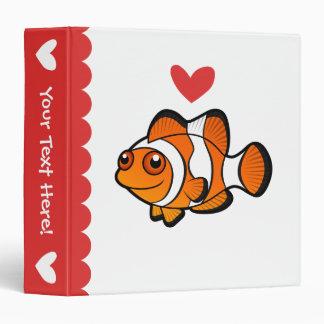 "Amor de Clownfish Carpeta 1 1/2"""