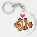 Amor de Clownfish Llaveros