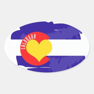 Amor de Colorado Pegatina Ovalada
