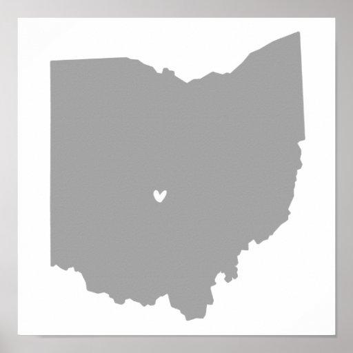 Amor de Columbus, Ohio Posters