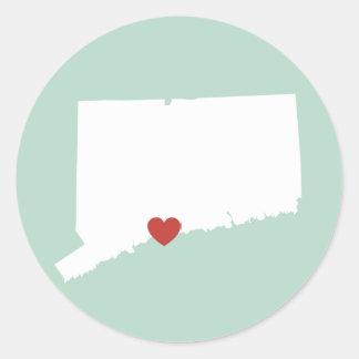 Amor de Connecticut - pegatina adaptable