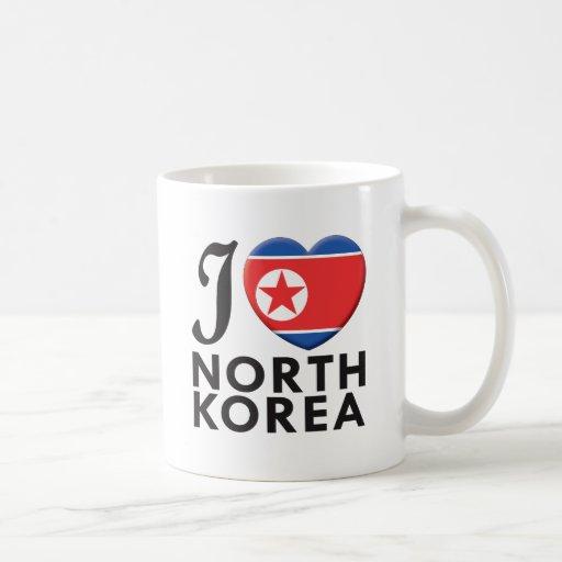 Amor de Corea del Norte Taza Básica Blanca