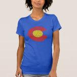 Amor de Denver del Grunge de la bandera del estado Camisas