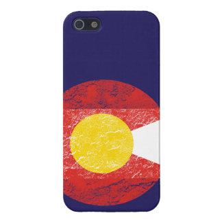 Amor de Denver del Grunge de la bandera del estado iPhone 5 Carcasa