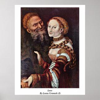 Amor de Der Alte por Lucas Cranach (i) Poster
