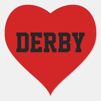 Amor de Derby Pegatina En Forma De Corazón