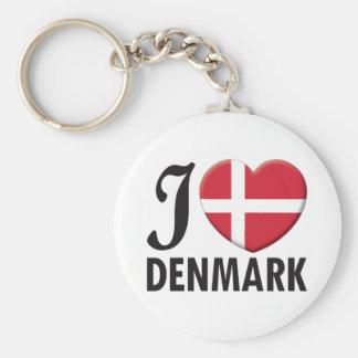 Amor de Dinamarca Llavero Redondo Tipo Pin
