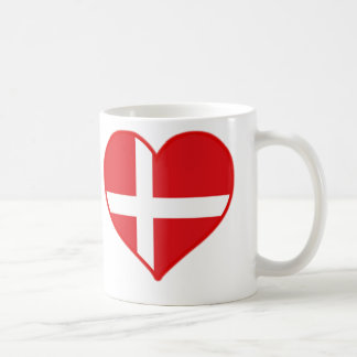Amor de Dinamarca Taza Básica Blanca