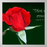 Amor de Dios es (cártel de 1 Juan 4: 8) Póster