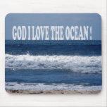 Amor de dios I el océano Alfombrilla De Ratón