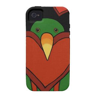 Amor de Eclectus Vibe iPhone 4 Carcasa