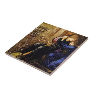 Amor de Edward Burne-Jones entre las ruinas Azulejo Cuadrado Pequeño