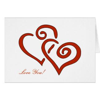 Amor de encargo del el día de San Valentín de 2 Tarjeta De Felicitación